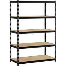 "Steel Shelving Muscle Rack 48""W x 24""D x 72""H 5-Shelf Organizer Storage Kitchen"