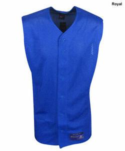 New Mizuno Boys Youth Size- XL Sleeveless Mesh Full Button Baseball Jersey