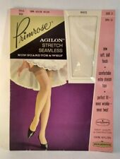 Primrose Agilon Stretch Seamless Run Guard Toe & Welt Vintage White 60s 3 Nylon