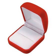 Red Velvet Ring Gift Packaging Jewelry Boxes 1 2 6 12 24 48 96 144 pcs