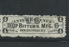 RS 131d--HOP BITTERS 4 CENT-- PRIVATE DIE  MEDICINE STAMP--50