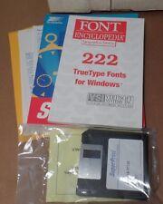 "Vintage Software: SuperPrint & Font Encyclopedia Sealed 3.5"" Floppies w/Manuals"