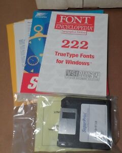 "Vintage Software: SuperPrint & Font Encyclopedia Sealed 3.5"" Floppies w/Manuals"