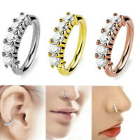 Nose Lip Ring 18G Surgical Steel Nose Ring Cartilage Ring Nose Hoop Piercing