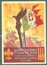 RETROSI VIRGILIO. IV ADUNATA NAZIONALE ARMA GENIO 1936. Cartolina d'epoca...