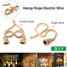 Vintage Hemp Rope Electric Wire Cord for DIY E27 Edison Bulb Pendant Light Decor