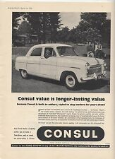 Ford Consul Original Advertisement removed from a magazine