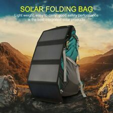 28W Portable Folding Solar Panel Charger 5V Dual USB Bag Battery Pack Outdoor US