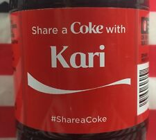 Share A Coke With Kari Limited Edition Coca Cola Bottle 2015 USA