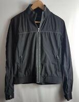 Calvin Klein CK Mens Harrington Zip Through Jacket Dark Grey Medium M Bomber