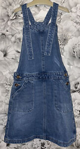 Girls Age 9-10 Years - Denim Pinafore Dungaree Dress