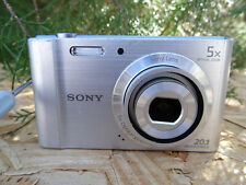 Sony Cyber-shot DSC-W800 20.1MP Digital Camera - Silver FOR PARTS REPAIR AS IS