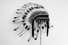 K42 For Kid / Children: From 5-8 years black and white Chief indian Feather Head