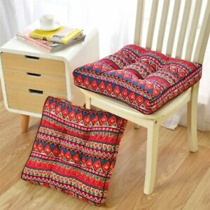 """Bohemian Chair Seat Pads, for Home Kitchen/Office/Garden Patio -19.7""""x19.7""""x3.9"""""""