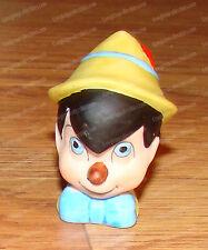 1988 Porcelain Bisque Walt Disney Pinocchio Thimble Bust (Grolier Enterprises)
