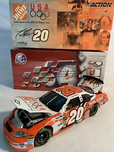2004 1/24 Action Tony Stewart #20 Home Depot US 2004 Olympic Team Diecast Car