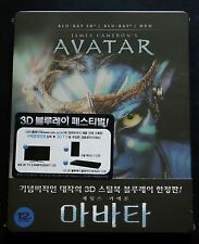 AVATAR - KOREA 3D+2D BLU-RAY STEELBOOK EDITION - NEW & SEALED!