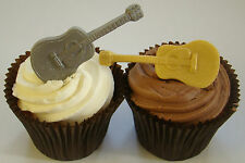 SILICONE MOULD ACOUSTIC SPANISH GUITAR MUSIC BAND BIRTHDAY CUPCAKE ICING TOPPER