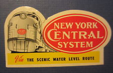Old Vintage - NEW YORK CENTRAL Railroad SYSTEM - Luggage LABEL - TRAIN