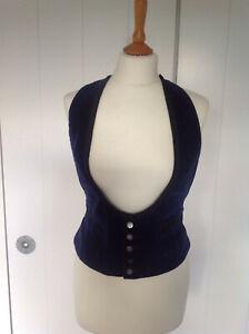 Vintage 60s/70s Mans Akco Velvet Dress Waistcoat/38