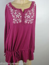 ☆ Ladies Pink/White Flower Embroidered Top UK 18 EU 46 ☆
