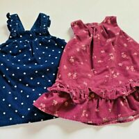Girls Corduroy Janie And Jack and Carter's 3-6 Month Polka Dot And Floral Dress