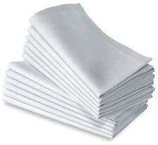 6 WHITE COTTON RESTAURANT DINNER CLOTH LINEN NAPKINS PREMIUM