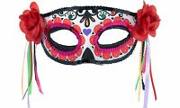 Day of the Dead Masquerade Mask Adult One Size Sugar Skull Dia de los Muertos
