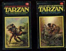 Edgar Rice Burroughs TARZAN and the Golden Lion BORIS VALLEJO ART VG 1976 #9