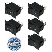 5x Ein Aus Einbau Wippschalter Kippschalter Schalter On Off DIY AC 250V 6A 2Pin