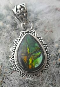 Sterling Silver Pendant with Canadian Ammolite