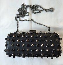 M*nsoon Accessorize Black Hardcase Embellished Clutch Bag (ac-2sc)