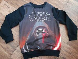 Boys Star Wars Sweatshirt age 3 - 4 years long sleeved black jumper top