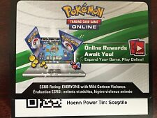 Pokemon TCG Online Hoenn Power Tin Sceptile Code Card for TCGO
