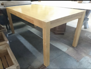 reclaimed contemporary wooden table