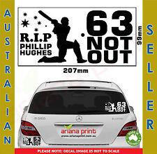 RIP Phillip Hughes 63 Not Out Vinyl Cut Decal