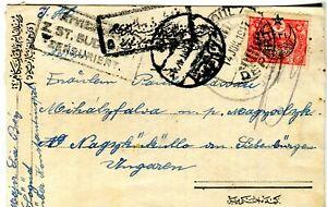 1917 Istanbul Turkey censored cover to Hungary by Hungarian Military Mayor Ira B