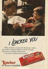 X7234 Loacker un amore irresistibile - Pubblicità 1991 - Advertising