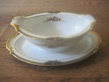 Noritake China FLOREAL 76839    Gravy/Sauce Boat with drip plate attached