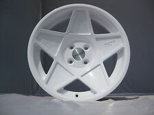 "16"" 3sdm 0.05 WHITE Alloy Wheels 4 STUD CLIO/POLO/CIVIC/MINI/MAZDA/NISSAN"