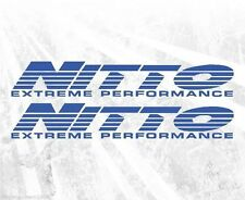 Two Nitto Tires Extreme Performance Vinyl Stickers JDM Drift Off Road Jeep track