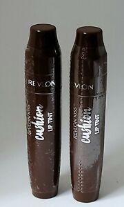 LOT OF 2- Revlon Kiss Cushion Tip Lip Tint, 280, Chocolate Pop, Factory Sealed