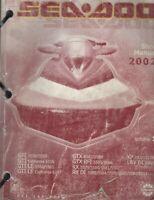 2002 SEA-DOO WATERCRAFT VOLUME 1 SERVICE SHOP MANUAL 219 100 143 (540)