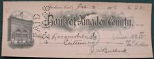 Bank of Amador County Jackson California Lot of 33 bank checks w 1928 statement