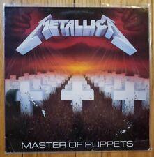 Metallica - Master of Puppets LP Vinyl 1986 Elektra/Asylum Orig 1st Pressing EX