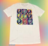 New Grateful Dead Skull Warhol Mens Vintage T-shirt
