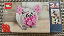 LEGO 40251 Creator : Mini Piggy Coin Bank, New, MISB, Sealed Box,Pig Sheep Panda