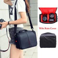 Waterproof Shoulder Camera Bag DSLR Lens Case Pouch Rain Cover For Canon Nikon