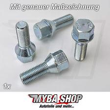 4x tornillos de rueda cabeza cónica M12X1, 5 longitud la rosca 28mm LLANTAS #