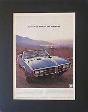 1968 Pontiac Firebird Convertible Ram Air II Original AD Matted & Ready to Frame
